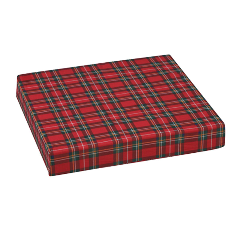 Mabis DMI Polyfoam Wheelchair Cushion Standard Plaid 16x18x3
