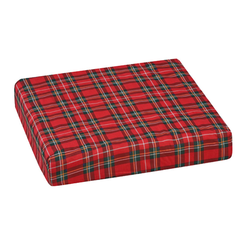 Mabis DMI Polyfoam Wheelchair Cushion Convoluted Plaid 16x18x3
