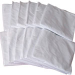 Mabis DMI Hospital Bedding Fitted Sheet White 554-7073-9812 thumbnail