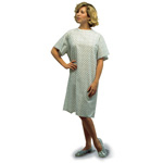 Mabis DMI Convalescent Gown with Back Tape Ties Print