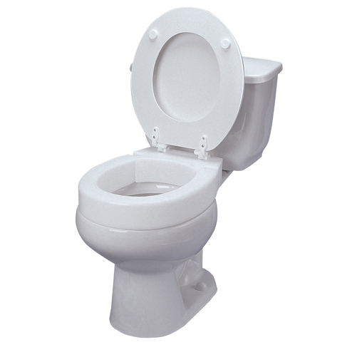 Mabis DMI Hinged Elevated Toilet Seat Riser Elongated