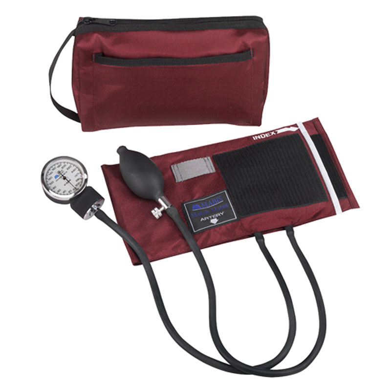 Mabis MatchMates Aneroids Sphygmomanometers Kit Burgundy