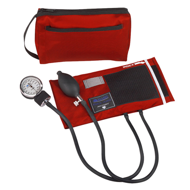 Mabis MatchMates Aneroids Sphygmomanometers Kit Red