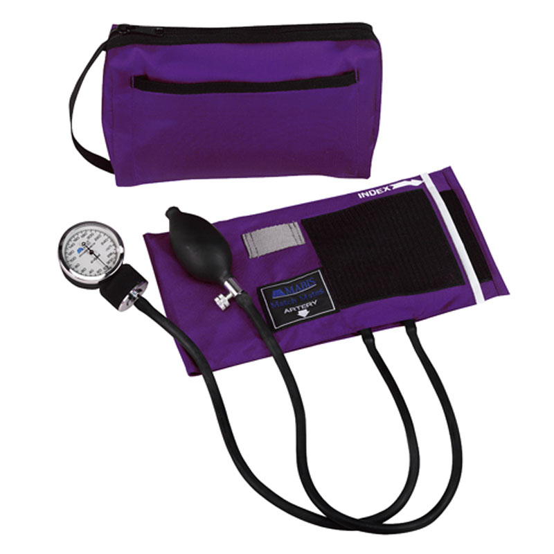 Mabis MatchMates Aneroids Sphygmomanometers Kit Purple