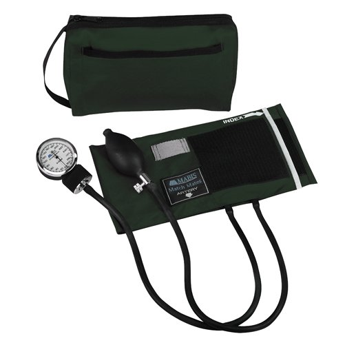 Mabis MatchMates Aneroids Sphygmomanometers Kit Hunter Green