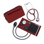 Mabis DMI MatchMates Sphygmomanometer & Stethoscope Kit Hunter Maroon
