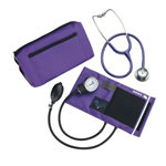 Mabis DMI MatchMates Sphygmomanometer & Stethoscope Kit Hunter Purple