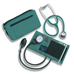 Mabis DMI MatchMates Sphygmomanometer & Stethoscope Kit Hunter Green