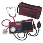 Mabis DMI MatchMates Sphygmomanometer & Stethoscope Kit Maroon