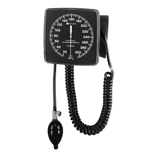 Mabis Legacy Wall-Mounted Clocks Aneroid Sphygmomanometer Black