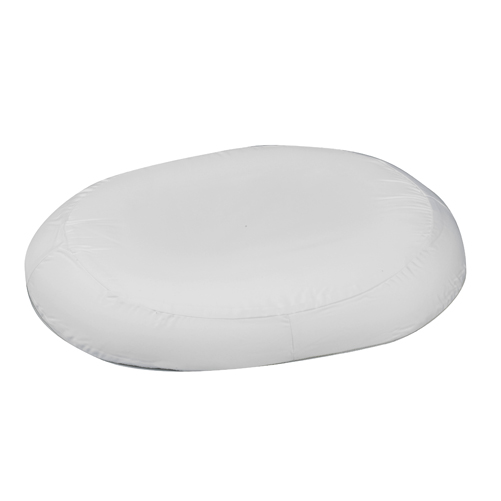 Mabis DMI Contoured Foam Ring Cushion White 18x15x3