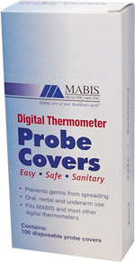 Mabis Digital Thermometer Probe Covers - 15-618-000 - Box of 100