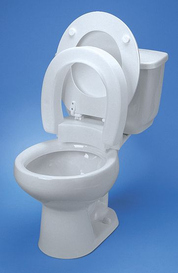 Maddack Hinged Elevated Toilet Seat Elongated