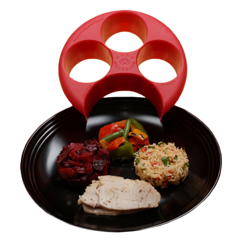 Meal Measure Portion Control Plate - Pack of 7