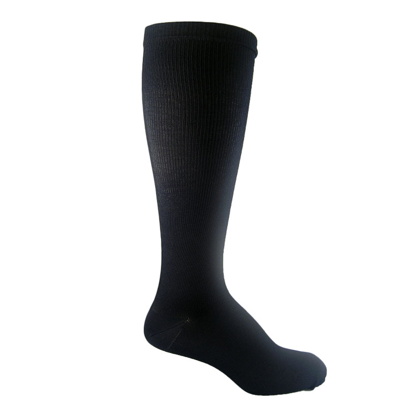 MediPeds Massaging Moderate Support Socks LG(WMN 10-13) Black 3pr