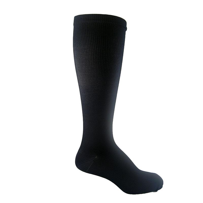 MediPeds Massaging Moderate Support Socks MED(WMN 8-10) Black 3pr