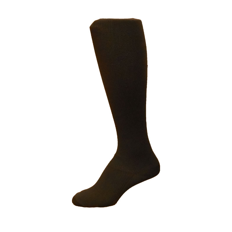 MediPeds Over the Calf Massaging Large Dress Socks Navy