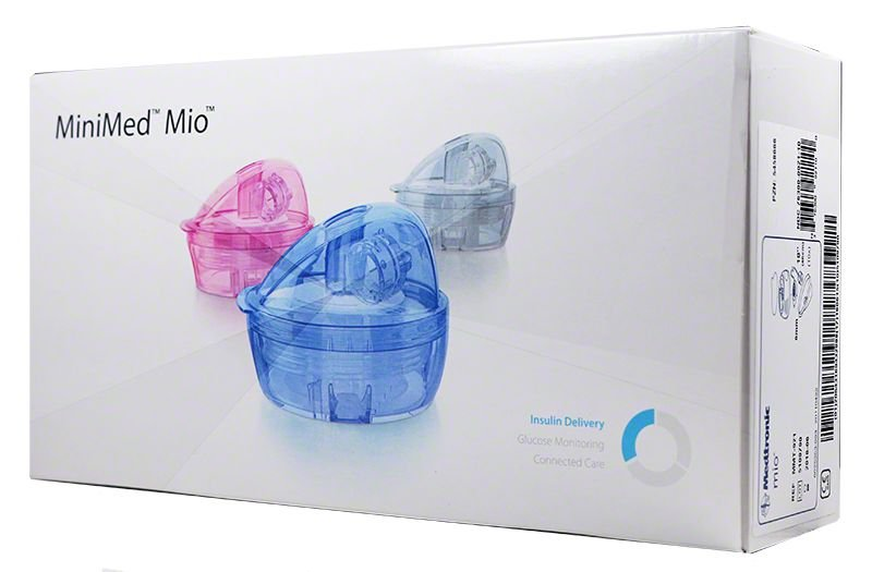 Medtronic Minimed Mio Infusion Set 6mm 23 inch Blue MMT943