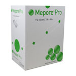 "Molnlycke Mepore Pro Dressing 3.6"" X 4"" 40/bx 670990 thumbnail"
