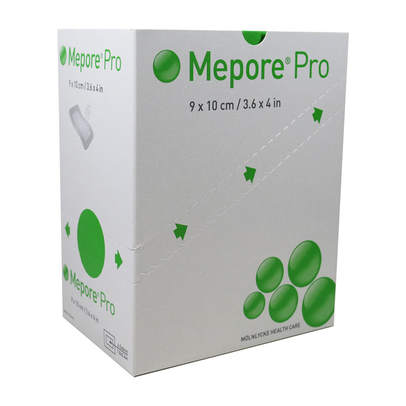 Molnlycke Mepore Pro Dressing 3.6 inch X 4 inch 40/bx 670990