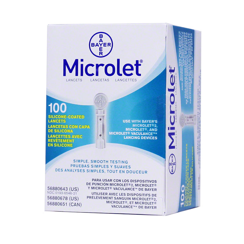 Bayer Microlet Sterile  Lancets Box of 100