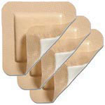 "Molnlycke Mepilex Border Dressing 4""x10"" 5/bx 295850 Pack of 6 thumbnail"