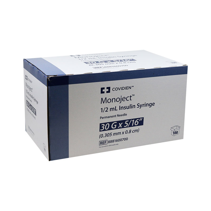 Monoject Ultra Comfort U-100 Insulin Syringes 30G 5/16 inch 100/bx