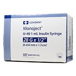 "Monoject U-40 Pet Insulin Syringe, 1cc, 28G, 1/2"" - 100ct thumbnail"