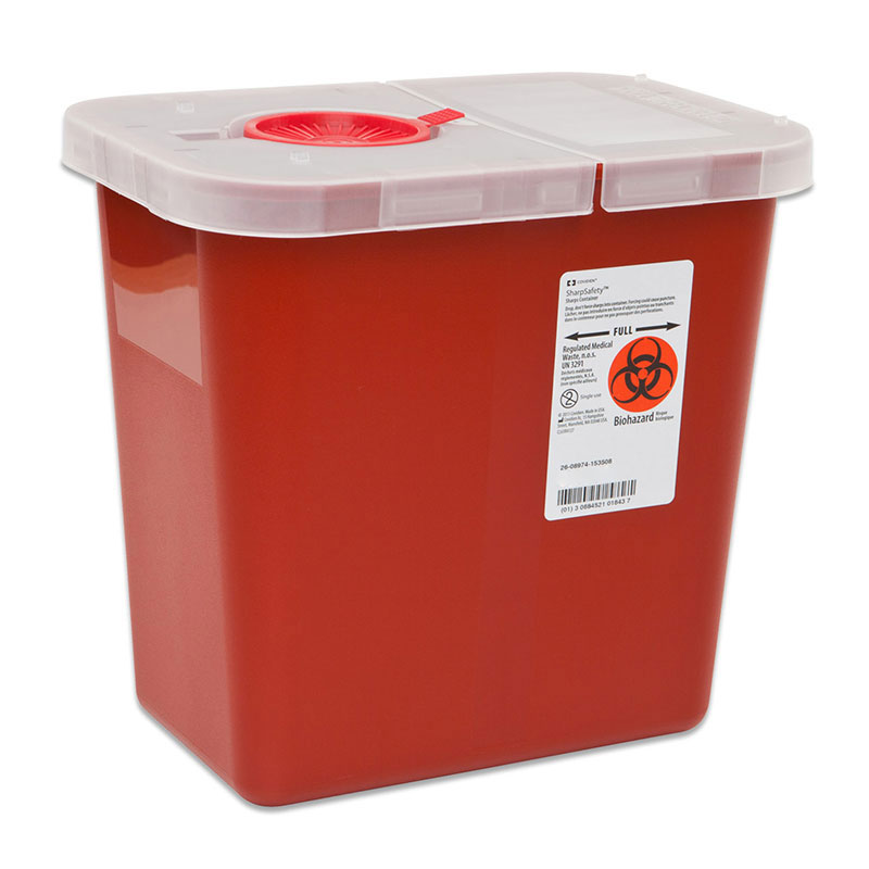 Multi-Purpose Containers, Hinged Lid, 2 Gallon, Red - 20ct
