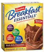 Nestle Carnation Breakfast Essentials Rich Milk Chocolate Case of 60