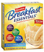 Nestle Carnation Breakfast Essentials Vanilla 9oz Box of 60