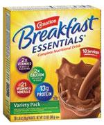 Nestle Carnation Breakfast Essentials Variety 36g Case of 60