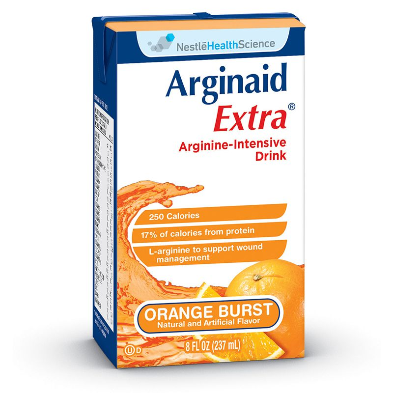 Nestle Arginaid Extra Arginine-intensive Orange 8oz 27-Case