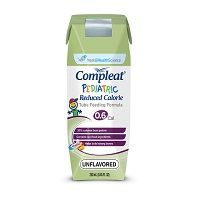 Nestle Compleat Pediatric Reduced Calorie Unflavored 250mL Case of 24
