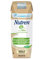 Nestle Nutren 1.0 Fiber with Prebio1 Unflavored 250mL Case of 24 thumbnail