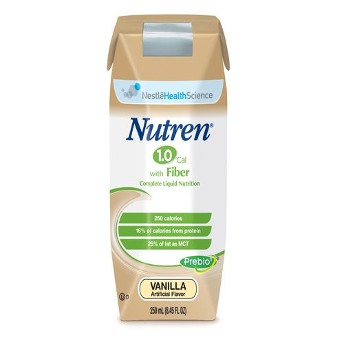 Nestle Nutren 1.0 Fiber with Prebio1 Unflavored 250mL Case of 24