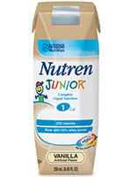 Nestle Nutren Junior Vanilla Flavor 250mL Case of 24