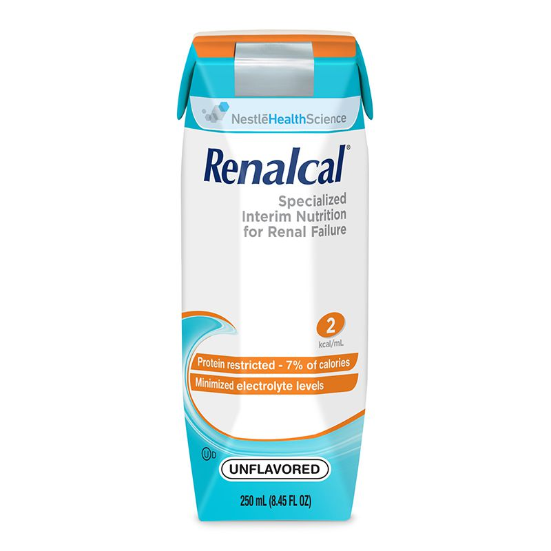 Nestle Renalcal Unflavored Liquid 250mL Case of 24
