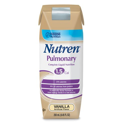 Nestle Nutren Pulmonary Vanilla 250mL Case of 24