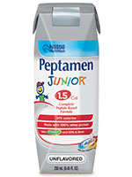 Nestle Peptamen Junior 1.5 Unflavored 250mL Case of 24 thumbnail