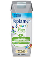 Nestle Peptamen Junior With Fiber Vanilla 8oz 6-Pack