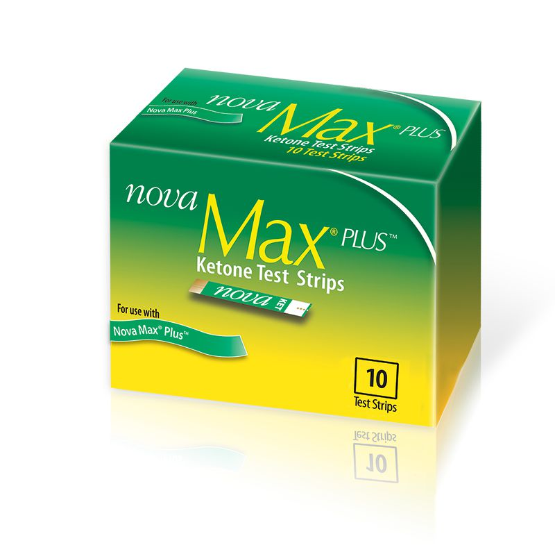 Nova Max Plus Ketone Test Strips 10/bx