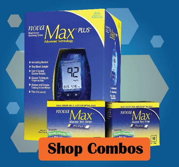 Nova Max Glucose Meter and Test Strip Combos