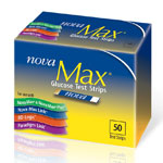 Nova Max Glucose Test Strips - Box of 50