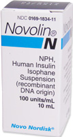 Novo-Nordisk Novolin-N Insulin U-100 - 10 mL Vial