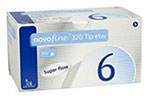 NovoFine Pen Needles 32G 6mm 100 per Box
