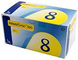 NovoFine Pen Needles 30G 8mm 100 per Box