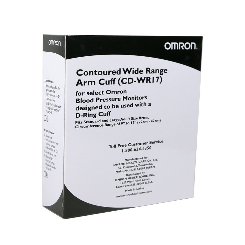 Omron Black D-Ring Wide Range 9-17 inch Replacement Cuff CDWR17