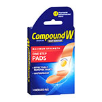Compound W Maximum Strength One Step Pads 14/bx - Pack of 6
