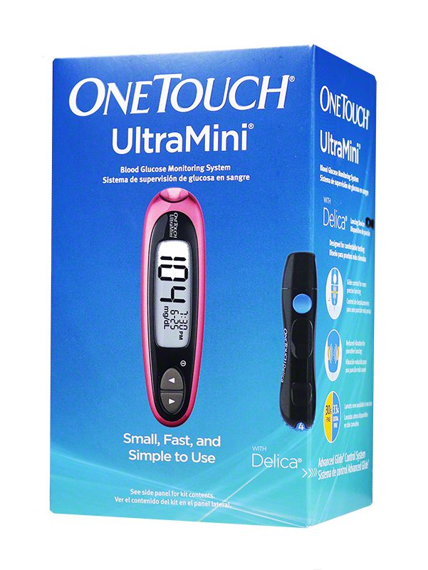 OneTouch UltraMini Blood Glucose Monitoring System - Pink Glow